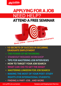 resumes griffith university careers service