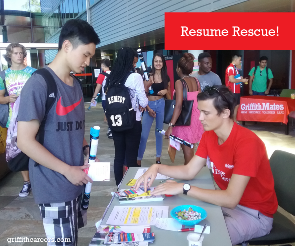 Get a free resume check up at Resume Rescue! | Griffith University ...