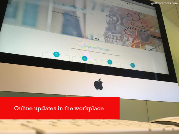 Online updates in the work place